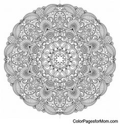 "Mandala Coloring Page 24 | free sample | Join fb grown-up coloring group: ""I Like to Color! How 'Bout You?"" https://m.facebook.com/groups/1639475759652439/?ref=ts&fref=ts"