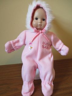 Pink Snowsuit for Bitty Baby by SewWeeBoutique on Etsy