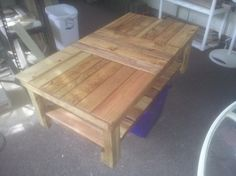 refurbished pallets skids coffee table 3 this was an order, diy, outdoor furniture, painted furniture, pallet, repurposing upcycling, woodworking projects