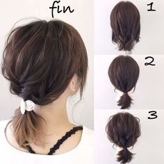 Simple ponytail arrangement (^ ^) 1 to tie three shells . Frisuren,, Simple ponytail arrangement (^ ^) 1 to tie three shells . 2019 Source by Curly Hair Styles, Short Hair Updo, Medium Hair Styles, Short Ponytail, Loose Updo, Work Hairstyles, Pretty Hairstyles, Everyday Hairstyles, Simple Ponytails