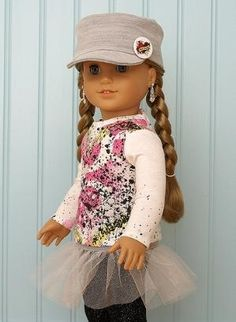 American Girl Doll Clothes-Splatter Tee Set by Jennifer D. Graham