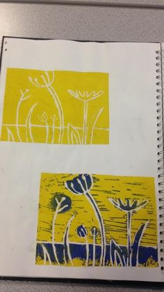 Angie Lewin inspired Linoprints - Natural Forms - Part 1