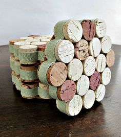 New color for the coasters! A beautiful shade of green to usher in Spring! These honeycomb wine cork coasters wrapped with a minty green ribbon will be a great addition to any home decor. The perfect place for your coffee in the morning or your glass of wine in the evening, these look good while protecting your table from scuffs and scrapes. A terrific gift idea, consider them for an Easter gift for the hostess, Mothers Day surprise or a present for the happy couple. These are a great…