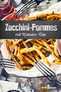 Zucchini Pommes, Zucchini Fries, Vegan Snacks, Vegan Recipes, Cooking Recipes, Healthy Fries, Eat Smart, Quick Meals, Food Inspiration