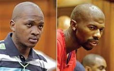 The two men accused of killing Anni Dewani, Mziwamadoda Qwabe who was responsible for the shooting and Xolile Mngeni who was responsible for tthe taxi. He Loves Me, Two Men, Taxi, No Response, Two By Two, My Love, My Boo