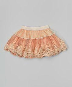Look what I found on #zulily! Blush Embroidered Tutu - Toddler & Girls #zulilyfinds $14.99