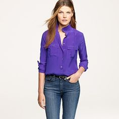 Blythe blouse in silk from J.Crew. I want it in all colors!