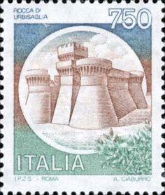 1990 - Castelli d'Italia: Rocca d'Urbisaglia (Marche)