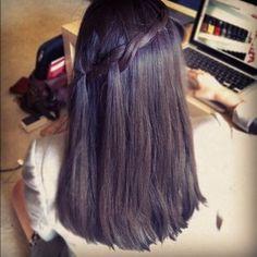 Two-Strand Waterfall Braid - Five-Minute Hairstyles Medium Hair