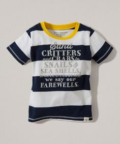 Another great find on #zulily! Midnight Stripe 'Sand Critters' Organic Tee - Toddler & Boys #zulilyfinds
