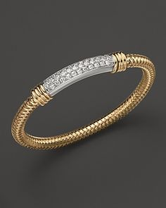 Roberto Coin 18K Yellow and White Gold Primavera Diamond Bracelet - Fine Jewelry - Bloomingdale's  l studioRdesigns John Hardy, Jewelry Bracelets