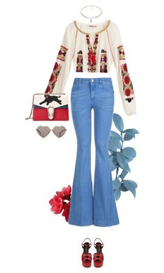 """""""Retro"""" by fanfan-zheng on Polyvore featuring Calypso St. Barth, STELLA McCARTNEY, Gucci, Yves Saint Laurent, Wildfox, amazon, necklace, promotion, promocode and VIKILYNN"""
