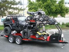 For Custom Combo Trailer CA, Custom Combo Trailer, Combo Sport Trailer CA call the professionals at Bear Trailers Inc. Utv Trailers, Custom Trailers, Custom Trucks, Custom Bikes, Expedition Trailer, Overland Trailer, Expedition Vehicle, Off Road Trailer, Car Trailer