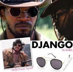 O óculos do Django! Uma réplica dos óculos usados por Charles Bronson no  filme White 5838bf4c68