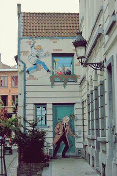 Street Art in Brussels   Belgium  Photo taken by me (Nacho...