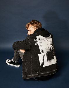 Bershka United Kingdom - Padded denim jacket