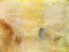 Sunrise, with a Boat between Headlands, 1835-1840, William Turner