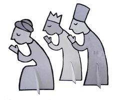 "The 3 wise men. Cardboard prototypes for the project "" La creche en carton "" created for Mitik editions. Issued 2011. www.lacrecheencarton.blogspot,com"