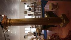 Säule in Marmor - http://www.achillegrassi.com/de/project/colonne-stile-dorico-con-canalette-in-marmo-giallo-reale-lucido/ - Dorische Säule mit Kannelierung in Marmor Giallo Reale, poliert Maße:  250cm x 40cm x 40cm Ø 30cm