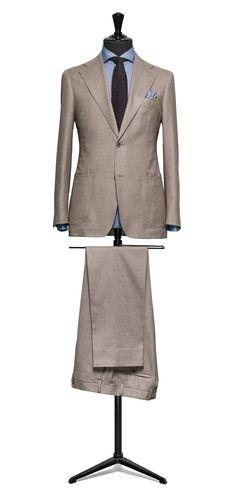 Brown suit Plain flannel S120 http://www.tailormadelondon.com/shop/tailored-suit-fabric-4352-plain-brown/