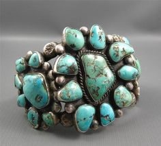 Chunky turquoise jewelry is my FAVORITE!!  Now I just have to find a way to hint this piece to my hubby!!