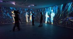 Quantum Space. Interactive video room/installation. Life Zone exhibition at M'ARS Gallery, Moscow. 26.02.15 - 15.04.15 http://kuflex.com Cover photo by Sergey Samoletov Entering this room you are disintegrating into quantums of light and communicating with universe. This is a digital meditation. Walls in this room are full covered by interactive projections. Abstract visualizations generated realtime from all movements of participants and from some automated parameters. Tech details:…