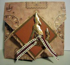 Diamond origami fold