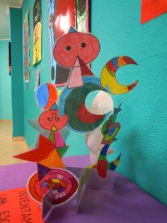 Escultura realizada por los alumnos de 5 años imitando otra encontrada en pinterest