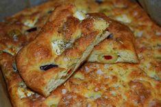 LCHF-focaccia No Salt Recipes, Snack Recipes, Cooking Recipes, Vegetarian Who Eats Fish, Pizza, Breakfast Snacks, Low Carb Bread, Clean Recipes, Finger Foods