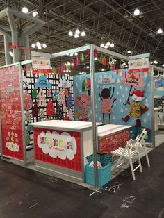 this was our booth before the show put down the carpet in the aisles.  we had SO much fun creating this together!!