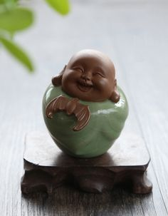 cute porcelain buddha, Happiness is beside Buddha