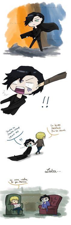Johnlock ~ Sherlock, youre drunk by xHummy.deviantart.com on @deviantART  OMG IM SOOOO SORRY KAN
