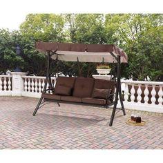 Patio Swing / Hammock 3 Seats Converting Furniture Canopy Top Backyard Outdoor #1