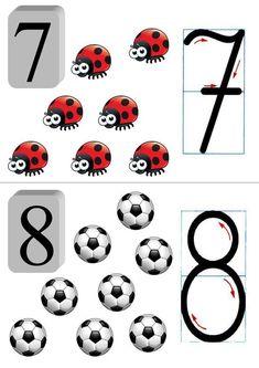 Cyfry - tablice edukacyjne, gotowe plansze do drukowania dla dzieci