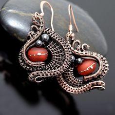 Wire Wrap Earrings and Ear Cuffs - Nicole Hanna Jewelry
