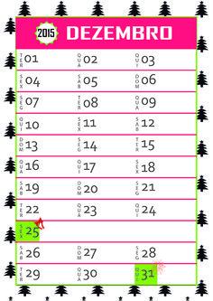 Calendário - Dezembro 2015