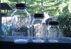 Mason Jar Canisters Set of 3