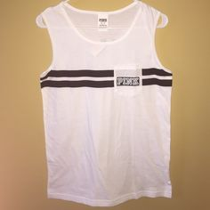 VICTORIA SECRET TANK Never worn! Super cute with a bathing suit. XS but fits like a Small/Medium PINK Victoria's Secret Tops Tank Tops