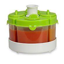 Baby Brezza Food Storage System: Quattro in Green - Cool Kitchen Gifts
