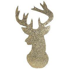 """Deco Silueta """"Cabeza de ciervo"""" 70 x 40 cm color dorado & Decoración en DecoWoerner"""