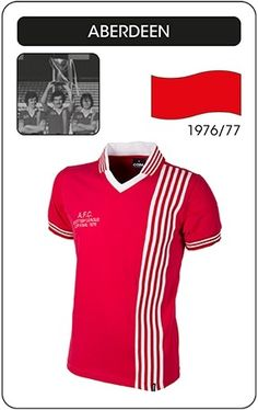 4d599dc32 Aberdeen FC 1976-1977 Retro Home Shirt. Retro Football ShirtsRetro ...