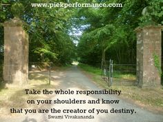 Take charge of your life www.piekperformance.com