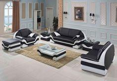 Stylish Design Furniture - Divani Casa 0613 Bonded Leather Sofa Set, $2,898.00 (http://www.stylishdesignfurniture.com/products/divani-casa-0613-bonded-leather-sofa-set.html/)