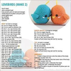 Here is the pattern for the lovebirds! The pattern and assembly instructions…