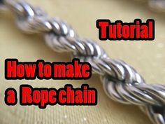 How to make a rope chain tutorial (part 1) - YouTube