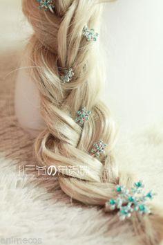 New Disney Movies Frozen Snow Queen Snowflakes Elsa Hair Clip Hair Pin 6pcs Set | eBay