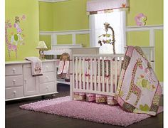 Jungle Jill by Carter's but with dark wood nursery furniture