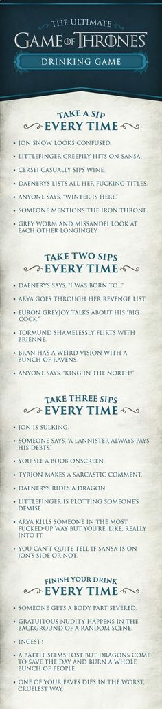 Heres How To Throw The Ultimate Game Of Thrones Party (if you want to get drunk fast )
