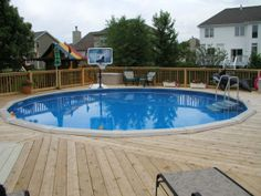 Swimming Pool Decks Extraordinary and Stylish : Above Ground Swimming Pool Decks Plans. Above ground swimming pool decks plans. on deck ideas Swimming Pool Decks, Above Ground Swimming Pools, In Ground Pools, Decks Around Pools, Metal Pool, Round Above Ground Pool, Pool Deck Plans, Above Ground Pool Landscaping, Driveway Landscaping