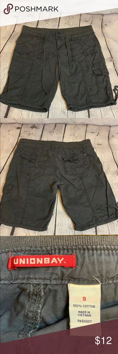 Union Bay Boys Camo Cargo Shorts 5,6,7,8 Draw string waist 100/% cotton
